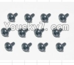 HaiBoXing 12883P Parts-74 S167 Flange Head Self Tapping Screws(12pcs)-2.3X8mm