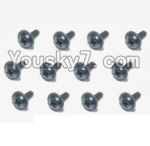 HaiBoXing 12883P Parts-74 S168 Flange Head Self Tapping Screws(12pcs)-2.6X5mm