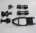 HBX HaiBoXing 12891 Parts-02 12601R Gear Box Housing & Upper Deck,Second Floor plate & Battery Cover