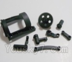 HBX HaiBoXing 12891 Parts-03 12602R Motor Guard cover,Motor seat & Big Gear & Steering Bushings
