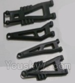 HBX HaiBoXing 12891 Parts-04-01 12603 Front And Rear Suspension Arms,Front And Rear Swing Arm(Total 4PCS)