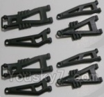 HBX HaiBoXing 12891 Parts-04-02 12603 Front And Rear Suspension Arms,Front And Rear Swing Arm(Total 8PCS)