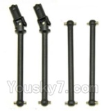 HBX HaiBoXing 12891 Parts-05-02 Front Drive shaft,Front dog bone(2pcs) & Rear drive shaft(2pcs)