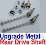 HBX HaiBoXing 12891 Parts-05-06 12711C Upgrade Metal Rear CVD Shaft & nuts & screws & wheel pins & Metal Differential Cup-(Total For Rear Car)