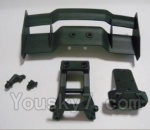 HBX HaiBoXing 12891 Parts-07 12606 Tail wing & Tail wing frame & Column for the Car canopy(For Off-road vehicles)