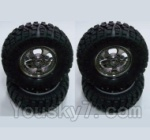HBX HaiBoXing 12891 Parts-12-02 12662 Wheels Complete (4PCS)