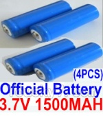 HBX HaiBoXing 12891 Parts-22-02 12633 Official 3.7V 1500mAH Battery(Li-ion Batteries)-4pcs