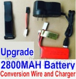 HBX HaiBoXing 12891 Parts-22-03 Upgrade 7.4V 2800MAH Battery & Charger & Conversion wire & Magic straps