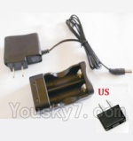 HBX HaiBoXing 12891 Parts-22-11 12642 Charge Box and Charger(USA Standard Socket)