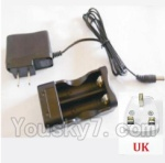 HBX HaiBoXing 12891 Parts-22-13 12644 Charge Box and Charger(United Kingdom Standard Socket)