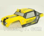 HBX HaiBoXing 12891 Parts-53 891-B001 Desert Truck Shell,Car shell-Yellow