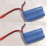 HBX 18859E Parts-34-02 18031 7.4V 650MAH Battery(2pcs)