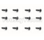 HBX 18859E Parts-46 18051 Pan Head Self Tapping Screw(12pcs)-PBHO2.3X7mm