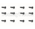 HBX 18859E Parts-54 18059 Pan Head Screw(12PCS)-PMHO3x6mm