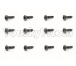 HBX 18859E Parts-57 18062 Pan Head Self Tapping Screw(12PCS)-PMHO2x6mm