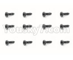 HBX 18859E Parts-58 18063 Pan Head Self Tapping Screw(12PCS)-PMHO1.7x21mm