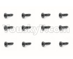 HBX 18859E Parts-59 18064 Pan Head Self Tapping Screw(12PCS)-PMHO2.3x12mm