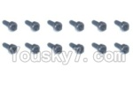 HBX 2098B Parts-54 24762 Cylindrical head with hexagonal screws(12PCS)-1.5x4mm