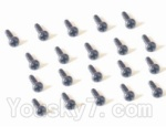 HaiBoXing 2118 Parts-37 25052 Pan Head Screw-2X18mm(20PCS)