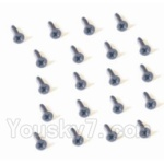 HaiBoXing 2118 Parts-38 25053 Countersunk Head Self Tapping Screw-1.5X5mm(20PCS)