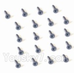 HaiBoXing 2118 Parts-39 25054 Countersunk Head Screw-2X3mm(20PCS)