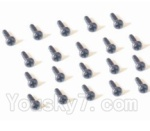 HaiBoXing 2118 Parts-45 25060 Pan Head Self Tapping Screw-2X5mm(20PCS)