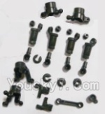 HBX 2128 Parts-03 25002R anti-Shocks Assembly & Steering Cups & Rear Shaft sleeve