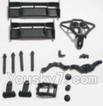 HBX 2128 Parts-04 25003 Tail Wings & Bumpers & Car Body Support column