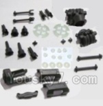 HBX 2128 Parts-05 25004R Motor Seat & Battery Cover & Dogbones & Diff. Small Bevel Gears & Wheel Shafts & Outdrive Cups