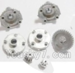HBX 2128 Parts-06 25005R Metal Diff. Gears & MetalDrive Pinion Gears