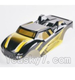 HBX 2128 Parts-33 28B01 Buggy Body Shell,Car shell-Yellow