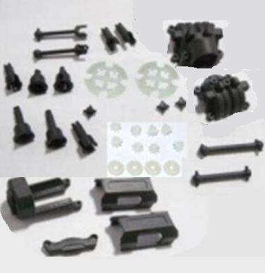 HBX 2138 Parts-05 25004R Motor Seat & Battery Cover & Dogbones & Diff. Small Bevel Gears & Wheel Shafts & Outdrive Cups