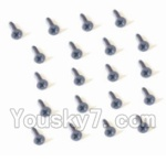 HaiBoXing 2138 Parts-42 25057 Countersunk Head Self Tapping Screw-2X9mm(20PCS)