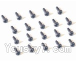 HaiBoXing 2138 Parts-45 25060 Pan Head Self Tapping Screw-2X5mm(20PCS)
