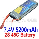 HBX HaiBoXing T6 Spare Parts-01 ONE 2s 7.4V 45C 5200MAH Battery