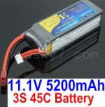 HBX HaiBoXing T6 Spare Parts-02 ONE 3s 11.1V 45C 5200MAH Battery