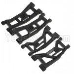 HBX HaiBoXing T6 Spare Parts-TS036 Front and Rear Suspension Lower Arms,Swing arm(Total 4pcs)