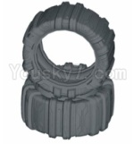 HBX HaiBoXing T6 Spare Parts-TS060 Front or Rear Concept Sand Tire(Sponge Inserted)-2pcs