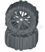 HBX HaiBoXing T6 Spare Parts-TS061-01 Front or Rear Concept Sand Wheels Complete(2 set)