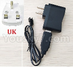 JJRC Q15 Car parts-04 -04 USB Charger and convert charger-UK Version Plug