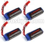 JJRC Q36 Parts-03-03 7.4V 400mAh Battery(4pcs)