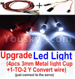 JJRC Q36 Parts-31-06 Upgrade LED Light set(Include the Upgrade LED light and 1-TO-2 Conversion wire)
