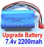 JJRC Q39 Upgrade Battery Parts-Upgrade 7.4V 2200MAH Battery With T-Shape Plug(1pcs)-Size-65X38X18mm