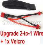 JJRC Q39 Spare Parts-35-05 Upgrade 2-to-1 wire and Velcro-Two battery can use together,Run 2x Time than usual