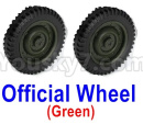 JJRC Q65 Parts-02 Wheel-Official Wheel(2pcs)-Green