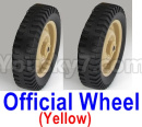 JJRC Q65 Parts-03 Wheel-Official Wheel(2pcs)-Yellow
