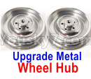 JJRC Q65 Parts-05 Upgrade Metal Wheel Hub(2pcs)-Silver