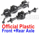 JJRC Q65 Parts-24 Front and Rear Axle assembly(Official Plastic)
