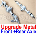 JJRC Q65 Parts-25 Upgrade Metal Front and Rear Axle assembly-Silver color