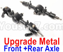 JJRC Q65 Parts-26 Upgrade Metal Front and Rear Axle assembly-Black color